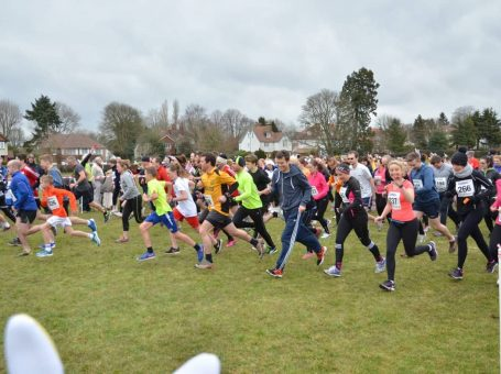 Photo of runners at the Caterham Rotary Easter Bunny Runs, in Queens Park, Chatham, Surrey