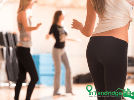 Photo of a fun adult dance class to promote a free dance session, sponsored by InTandridge