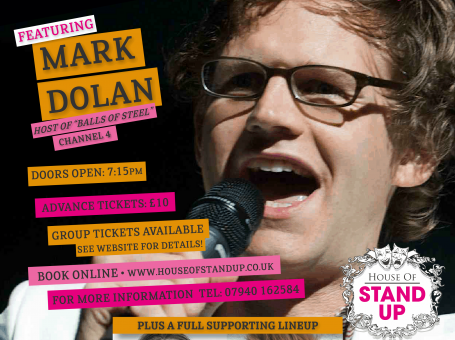 Poster for November's Soper Hall, Caterham Comedy Show by House of Stand Up