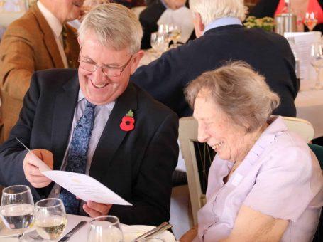 Senior citizens enjoying a Caterham Rotary lunch event