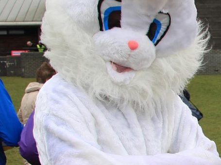 Snuggles - Caterham Rotary Easter Bunny fun run mascot