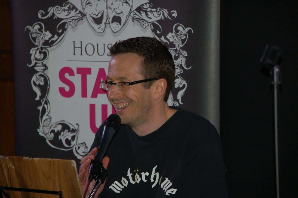 Comedian at House of Stand Up's Caterham Comedy Show