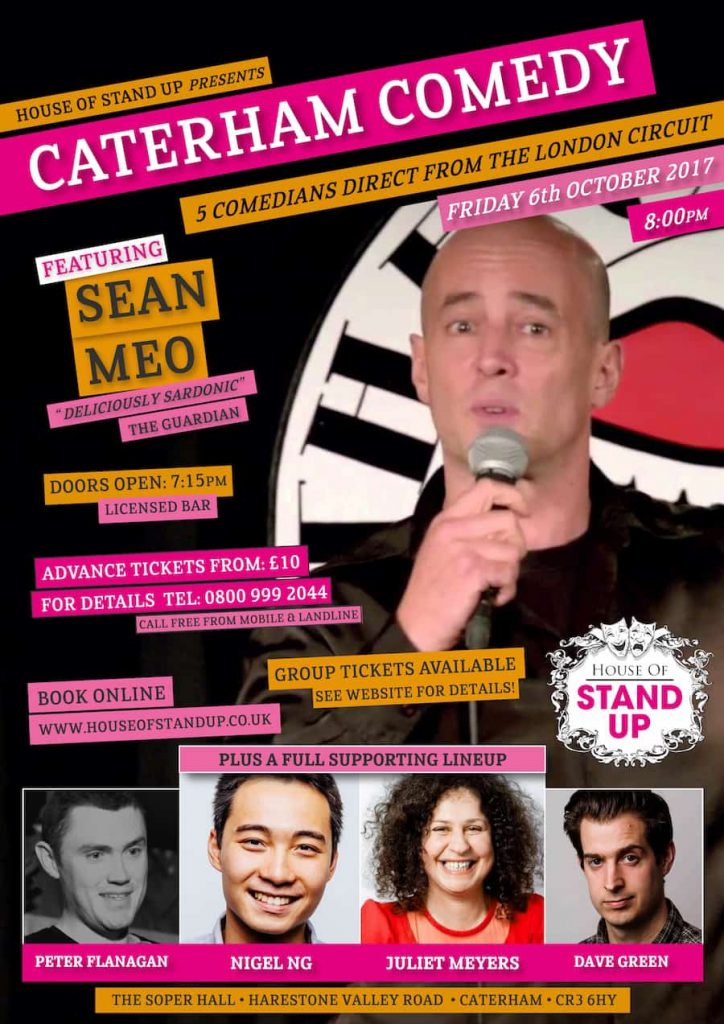 Caterham Comedy, House Of Stand Up Poster