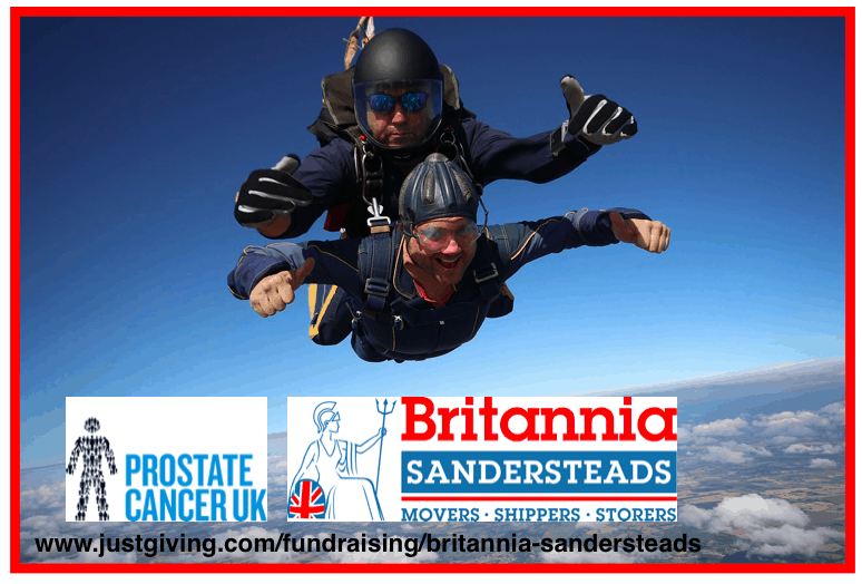 Local removals company, Britannia Sandersteads charity skydive