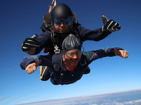 Local removals and storage company, Godstone, Surrey - Britannia Sandersteads - Skydive to raise money for Prostate Cancer UK