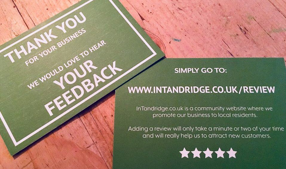 InTandridge Customer Review Cards - Local Business