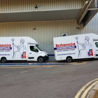 House removals and office removals vehicles belonging to Britannia Sandersteads