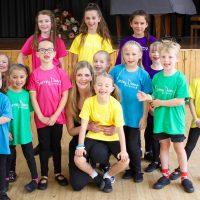 Surrey Dance School pupils before a performance