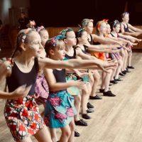 Surrey Dance School's children's dance class practicing