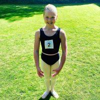 Surrey Dance School children's ballet dancer - ready for her ballet exam