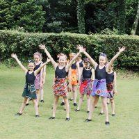 Surrey Dance School pupils dancing outside
