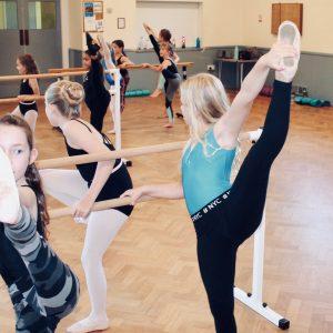 Surrey Dance School ballet class in action
