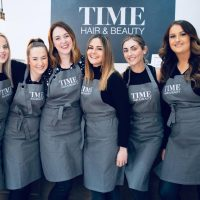 Team photo of Time Hair & Beauty, a luxury hair and beauty salon in Caterham